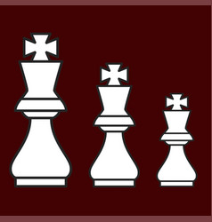 Chess figure king on a brown background vector