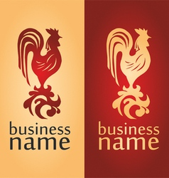 logo with a cock vector image vector image