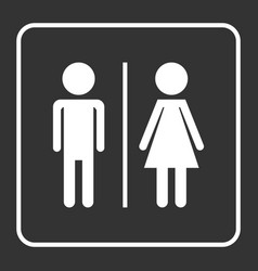 man and woman icon on black background modern vector image
