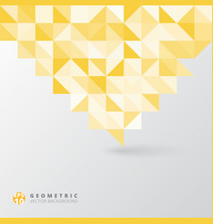 abstract gray triangle and square in yellow and vector image vector image