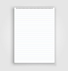 blank realistic spiral notepad notebook vector image vector image