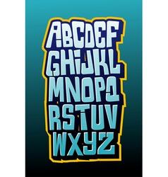 Graffiti comics style letttering font alphabet vector image vector image