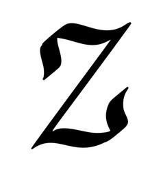 letter z painted brush vector image