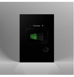 minimalist design black and white brochure vector image