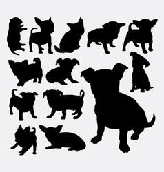 Puppy pet dog silhouette vector image