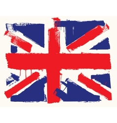 UK paint flag vector image