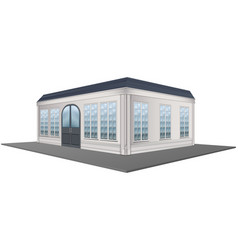 3d design for building with gray roof vector image vector image