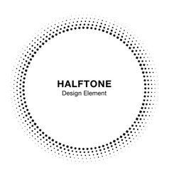 Abstract Circle Frame Halftone Dots Design Element vector image vector image