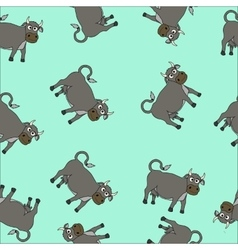Cartoon cow seamless vector image vector image