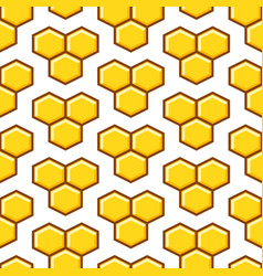 Honeycomb yellow seamless pattern vector