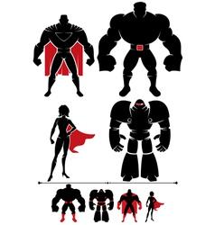 Superhero Silhouette vector image vector image