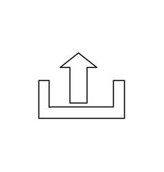 upload icon vector image