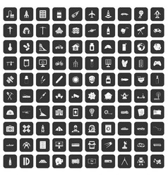 100 development icons set black vector image