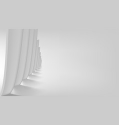 3d white and black abstract back minimal design vector image