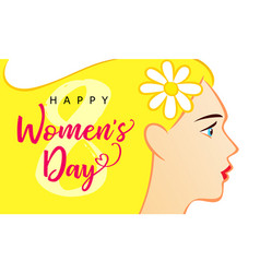 8 march happy womens day card blond vector image