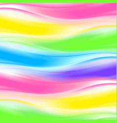Abstract rainbow wave background vector image
