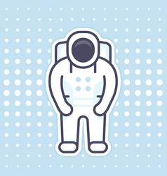 astronaut icon in flat style with outline vector image
