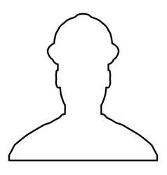 avatar builder architect engineer in helmet view vector image