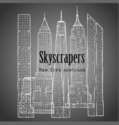 background with skyscrapers vector image