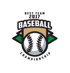 baseball championship best team 2017 logo vector image