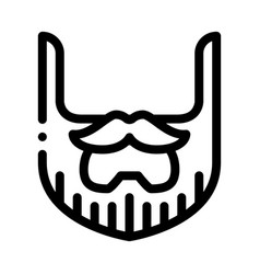 Beard mustache whisker icon outline vector