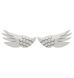 bird wings isolated cartoon symbol vector image