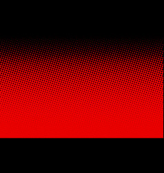 black and red dotted halftone background vector image