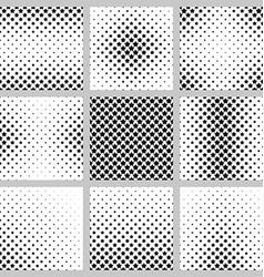 Black and white pentagram star pattern set vector image