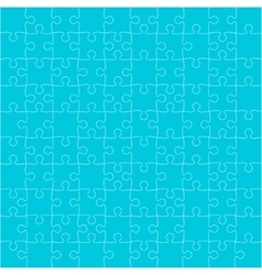Blue puzzles pieces square gigsaw - 100 vector