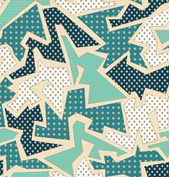 blue textile geometric seamless pattern vector image