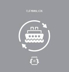 boat services renew icon vector image