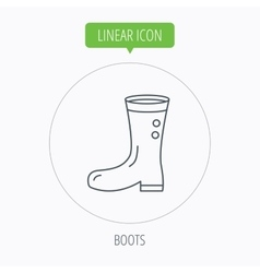 Boots icon Garden rubber shoes sign vector image