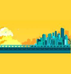 bridge to megalopolis vector image