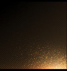 Burning fire particles coal sparks abstract vector