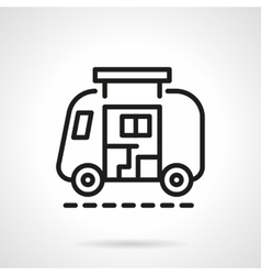 Camp car simple line icon vector