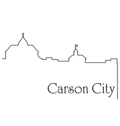 carson city one line drawing vector image