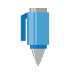 cartoon blue pen utensil school vector image