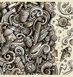 cartoon doodles africa monochrome african vector image