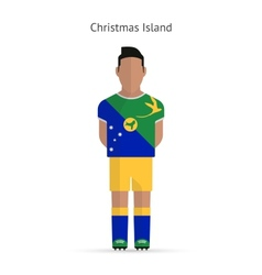 Christmas Island football player Soccer uniform vector