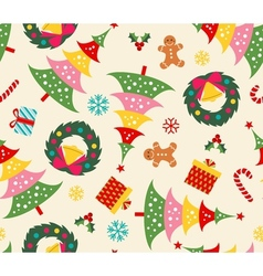 Christmas set seamless pattern vector