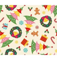 christmas set seamless pattern vector image