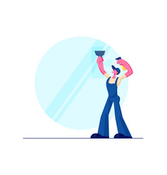 cleaning service male character wearing blue vector image