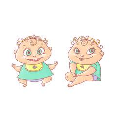 Color cartoon joyful child vector