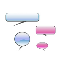 color chat balloons vector image