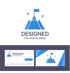 Creative business card and logo template mountain vector