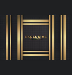 dark abstract background with luxurious gold color vector image