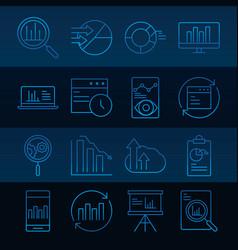data analysis business financial diagram stock vector image