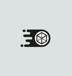 Delivery logotype box post logo design vector