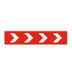 detour on the right side icon flat style vector image vector image