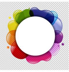 Dialog balloon and color blobs vector